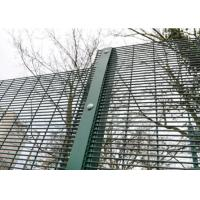 Best Green / Black Metal 358 Security Fence Powder Coated With Posts And Hardware wholesale