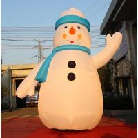 China 8OZ Fabric Inflatable Christmas Decorations / Blow Up Snowman For Winter on sale