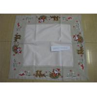 Best Polyester Fabric Linen Hemstitch Tablecloth Durable For Home And Hotel wholesale