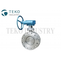 Best Laminated Seat Ring Triple Eccentric Class 150 SS Butterfly Valve wholesale