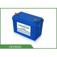 Best Safety 24V 40Ah Medical Equipment Battery Backup Nano LiFePO4 Material wholesale