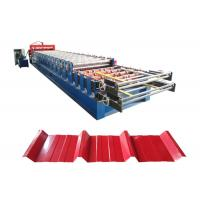Best Hydraulic auto color steel tile type and roof panel double layer rolling making forming machine wholesale