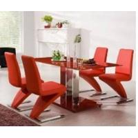 China Modern MDF  Accepted Small Order tempered glass topped dining tables on sale