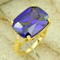 China wholesale jewelry making supplies 2012 newest fashion jewelry  ring  blue amethyst Ring on sale