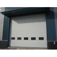 China Industrial Overhead Sectional Door ,insulated with polyurethane foam infill, all size on sale