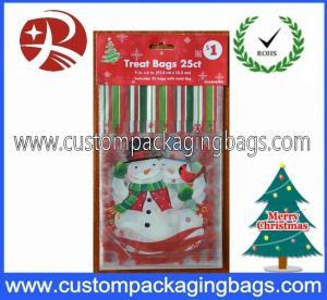 China Custom Printed Plastic Treat Bags HDPE 20 - 100micron For Christmas on sale