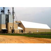 China Large Span H Section Industrial Steel Frame Building For Processing Cattle Feed on sale