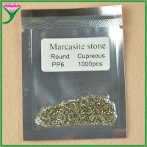 Best cheap price AAA grade pp6 round shape machine cut loose marcasite gem stone wholesale