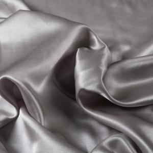 China 32% Silk 68% Cotton 13mm Grey WaterWashed Silk Cotton Satin on sale