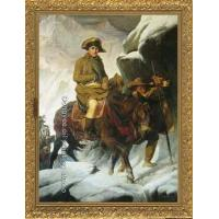 China PAINTING Napoleon Crossing the Alps by Paul Delaroche on sale