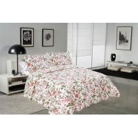Best Chrysanthemum Pattern Colourful Quilt Covers , Home King Queen Size Bed Quilt Covers wholesale