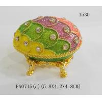 Best Faberge egg jewelry Box Egg Shaped Metal Jewelry Box For Wedding Gift wholesale