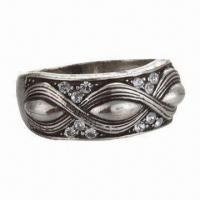 Best Jewelry Ring, Made of Tungsten/Rhinestones, Available in Various Colors and Sizes, Eco-friendly wholesale