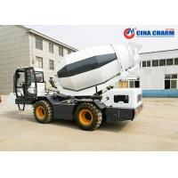 Best Water Supply Self Loading Transit Mixer , Ready Mix Mobile Concrete Mixer Truck wholesale