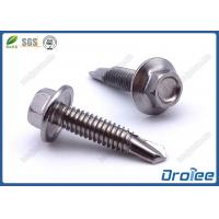 Buy cheap 410 Stainless Steel Tek Screws, Passivated, Hex Flange Washer Head from wholesalers