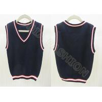 China Fashion Autumn Cotton V Neck Sweaters , Black Sleeveless Vest for Boys on sale