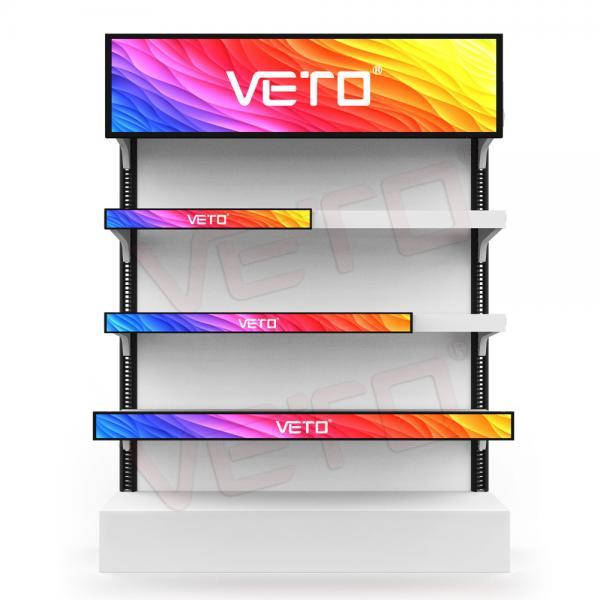 Cheap 1200mm Bar LCD Advertising Display 49.5 Inch High Shelf Edge Long Digital Signage for sale
