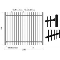 Cheap Low Carbon Steel HDG Falt To Garrison Fence Panels 1.8m*2.35m Rails for sale