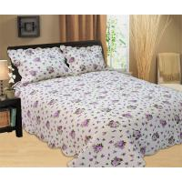 Best Purple Flowers Full Size Bed Sets Soft Comfortable With 100% Polyester Material wholesale