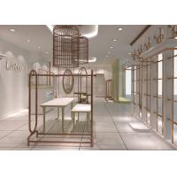 Best Fashion Retail Lady Apparel Store Fixtures Made With Wood Stainless Steel wholesale