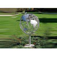 Best Decorative Stainless Steel Sculpture With Semi - Meridian Globe Shape wholesale