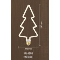 China Frosted Dimmable Filament Bulb Christmas Tree Shape 8w Led Edison Bulb E27 Dimmable on sale