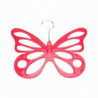 Best Butterfly-shaped Plastic Clothes Hanger, Various Colors and Specifications are Available wholesale