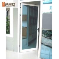 China Swing Open Style Aluminium Hinged Doors With Ford Blue Reflective Glass wooden hinged door pivot hinges glass door on sale