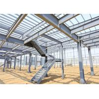 China Lightweight Steel Storage Buildings , H Section Galvanized Steel Frame Building on sale