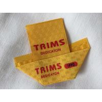 China Center / Mitre Fold Taffeta Woven Labels , Elegant Embroidered Sewing Labels on sale