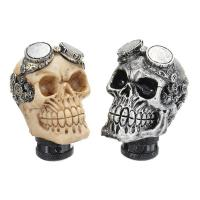 China Universal Car Gear Shift Knobs Skull Head Gear Manual Transmission Gear Shift Knob Shifter Lever on sale