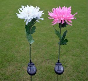 Best 1Led Solar Powered Garden LED Stake Lights, Chrysanthemum Solar Light Yard Decorations wholesale