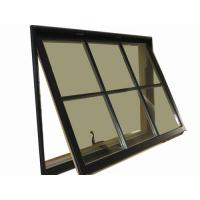 Best 1.2mm - 1.4mm profile thickness gray aluminum awning windows for hospital, school wholesale