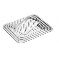 Best Food Grade Perforated Baking Tray Stainless Steel Material With Round Hole wholesale