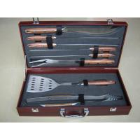 China 8pcs BBQ tools in a box,Rosemary wooden handle and box! on sale