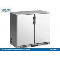 Best Silvery Beer Cooler Refrigerator , Under Bench Freezer 208L Capacity CE Certificated wholesale
