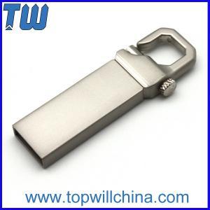 Slim Mini Metal Hook Usb Flash Drive Delicate Design for Gifts