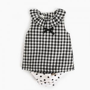Best Girl 2 Piece Newborn Clothes Set / Ruffle Cotton Baby Clothes Single Dress wholesale