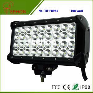 Best 108 Watt 9 Inch Quad-Row off-Road LED Light Bar for ATV and UTV wholesale