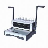 Best Comb binding machine, metal body/large tray store comb/open mouth punching 20 sheets/21 movable pins  wholesale