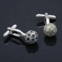 Best Nickel-/Lead-free Black Metal Alloy Cufflinks with Optional Rhodium-, Gold or Silver-plated Finish wholesale