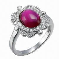 Best Ruby Silver Ring, Customized Designs, OEM and ODM Orders Welcomed wholesale