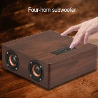 Best 4 Power Horn Subwoofer Speakers Powerful Bluetooth Speaker With 3.5mm Aux Cable wholesale