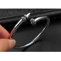Best Punk Womens Black Open Bangle Bracelet With Customized Logo , CE Certisficated wholesale
