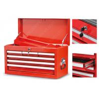 China Stainless Steel Mobile Red Tool Box Top Cabinet Powder Coating Finish on sale