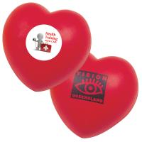 Buy cheap Promotional custom red heart-shaped PU foam stress reliever ball with logo from wholesalers