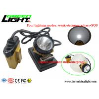 China 25000lux Afety Wire Cap Led Mining Lamp , High Intensity Light Flashing Cap Light on sale