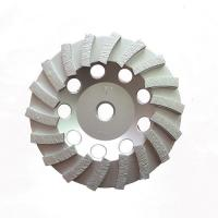 China Double Turbo Metal Bonded Diamond Grinding Wheel For Concrete Surface Grinding on sale