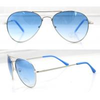 Best Fashion Handcrafted Blue Metal Frame Sunglasses , Vogue Sun Glasses wholesale