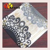 Best wedding invitation card hot sale black card with round buckle envelope seal wholesale